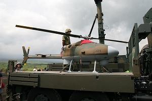 写真・図版 : 自衛隊オリジナルの無人機FFOS=筆者提供