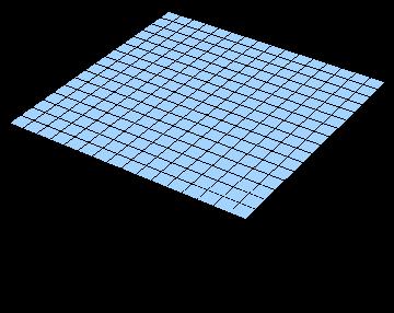 写真・図版 : 平らな空間(2次元で考える)