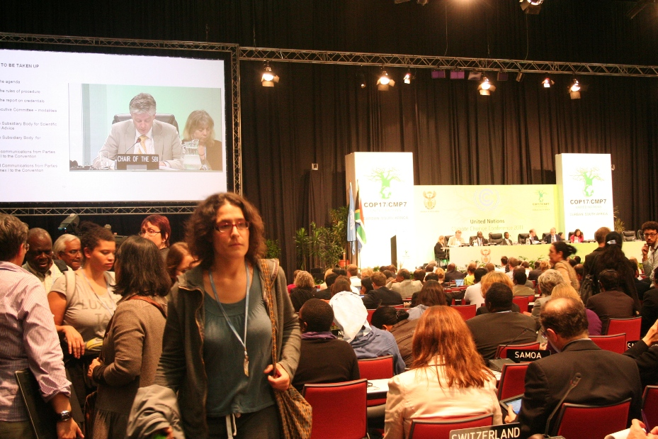COP17の会議風景