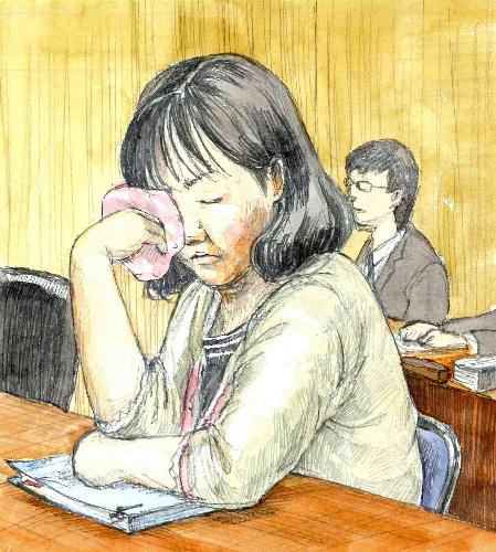 写真・図版 : 3月の公判での木嶋佳苗被告=さいたま地裁(絵と構成・仲澤瑞希)