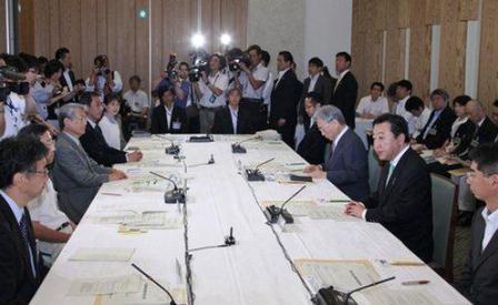 写真・図版 : 7月31日の宇宙政策委員会初会合(首相官邸ホームページより)