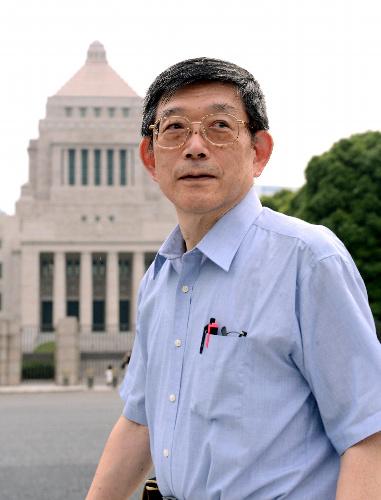 神戸大名誉教授の石橋克彦さん(伊ケ崎忍撮影)