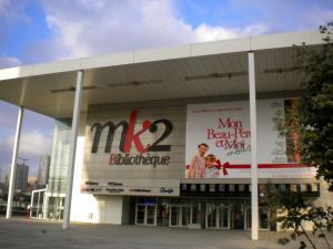パリ13区の映画館、MK2ビブリオテーク=撮影・筆者