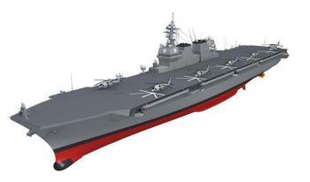 「護衛艦」、22DDHの完成予想図=提供・海上自衛隊
