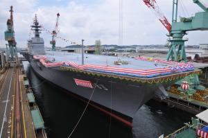 写真・図版 : 22DDHの進水式=提供・海上自衛隊
