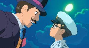 『風立ちぬ』 より。夢の中でカプローニ(左)と出会う堀越二郎少年