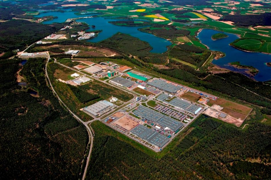 バッカースドルフの再処理工場建設予定地は「イノベーションパーク」という工場団地になっている。(ナイデル氏提供)