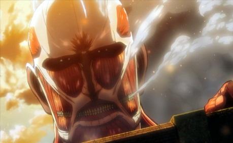 アニメ「進撃の巨人」から、壁を超え人を襲う巨人=(C)諫山創・講談社/「進撃の巨人」製作委員会
