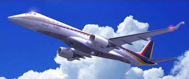 MRJの想像図、三菱航空機HPより