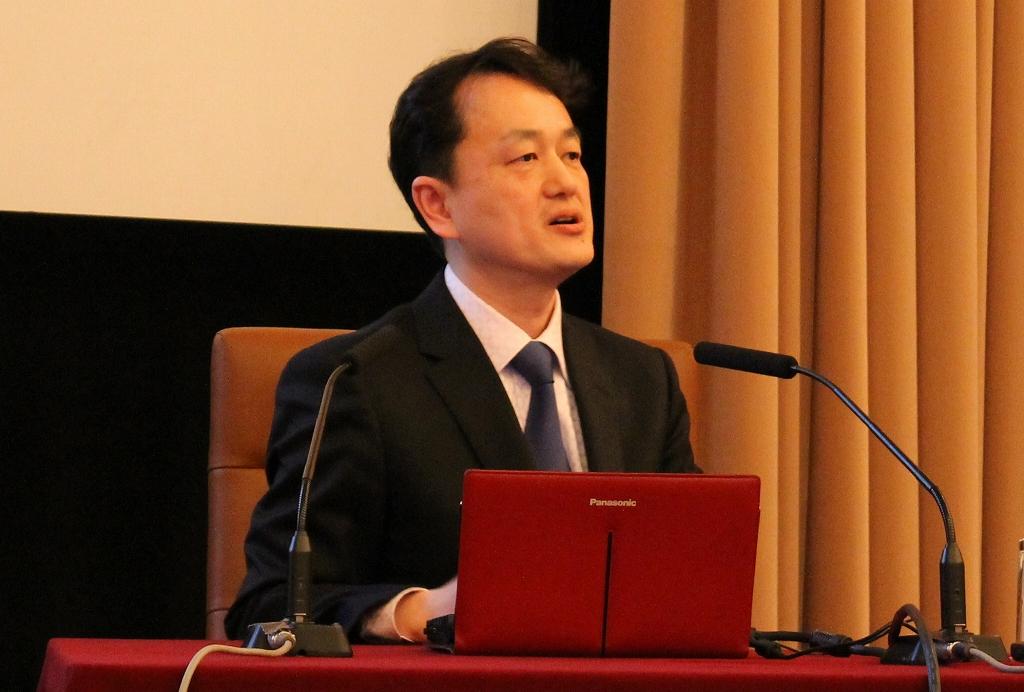 ビットコインについて語る岡田仁志・国立情報学研究所准教授