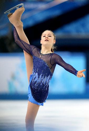 ソチ五輪のフィギュア団体でロシアの金メダルに貢献したユリア・リプニツカヤ