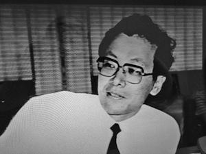 写真4 生前の荻島國男さん=1996年8月30日放送の「幻のゴミ法案を追う」から