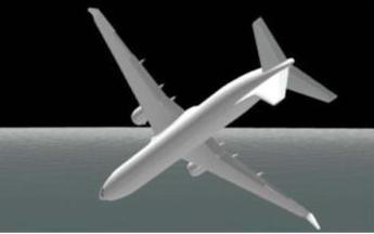 CG図:同=機体は誤操作から28秒後に左に131.7度傾いた
