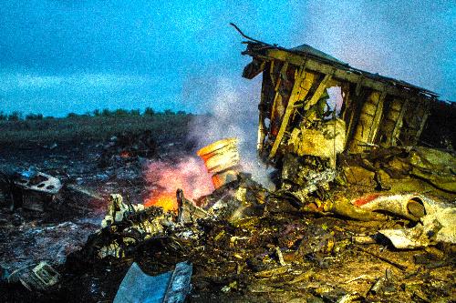 マレーシア機墜落現場