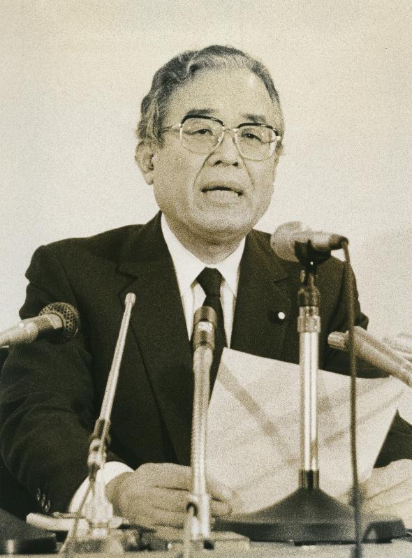 三塚博氏=1989年