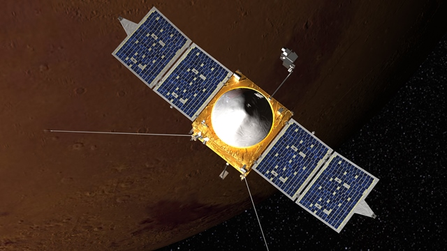 写真・図版 : 米国の火星探査機MAVEN(メイブン)=NASA提供