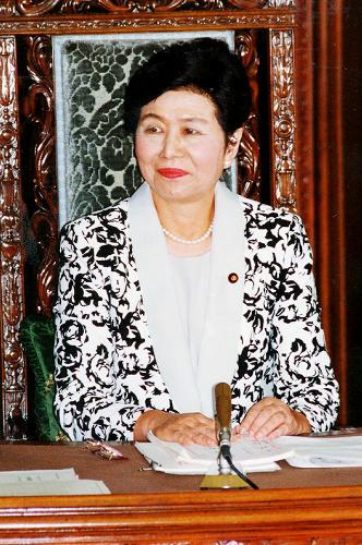 写真・図版 : 衆院議長時代の土井たか子さん