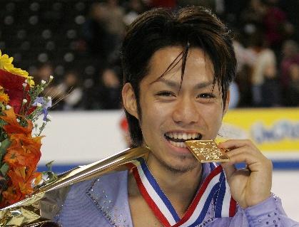 2005年10月のスケートアメリカで優勝して
