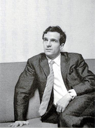 来日したフランソワ・トリュフォー監督=1963年、撮影・野口久光