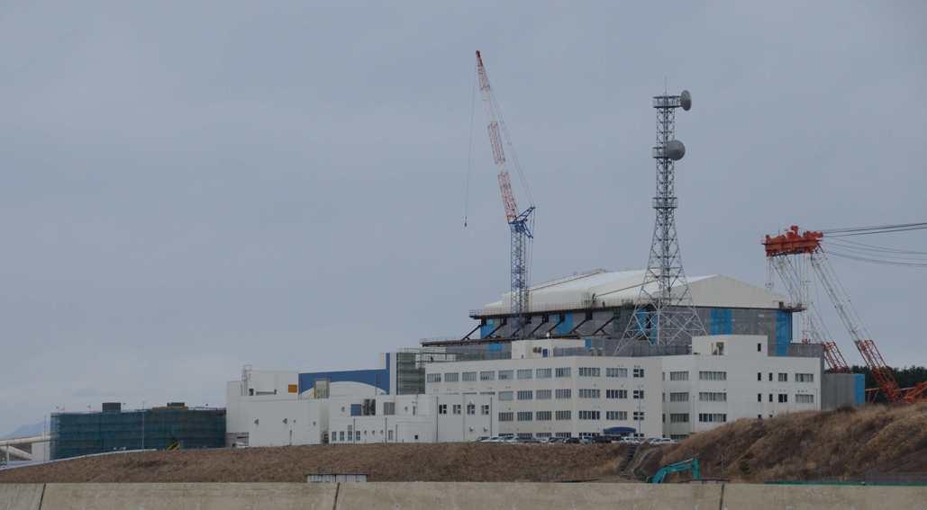 Jパワーが建設中の大間原発。青森県。運転開始は2021年となっている。