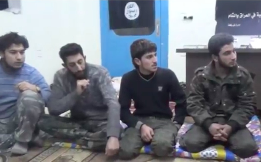 「イスラム国」の若者たちが登場するユーチュブにアップされた動画の一コマ