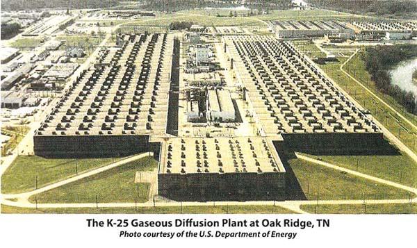 写真・図版 : ウラン精製工場があったテネシー州オークリッジの施設 K-25 plant at Oak Ridg=筆者提供