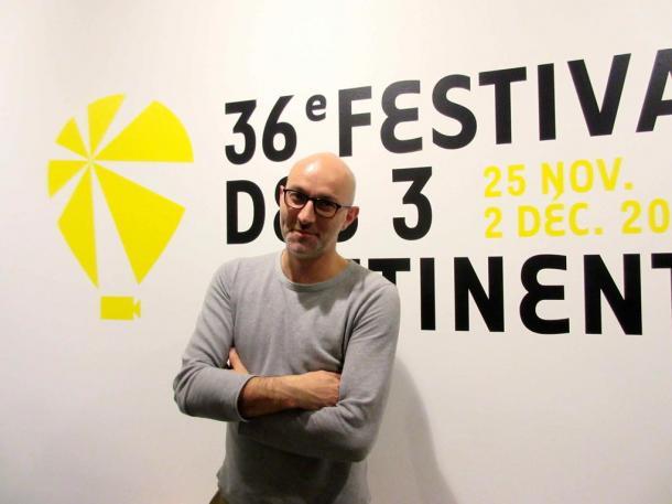 写真・図版 : ナント三大陸映画祭のディレクター、ジェローム・バロン=撮影・筆者