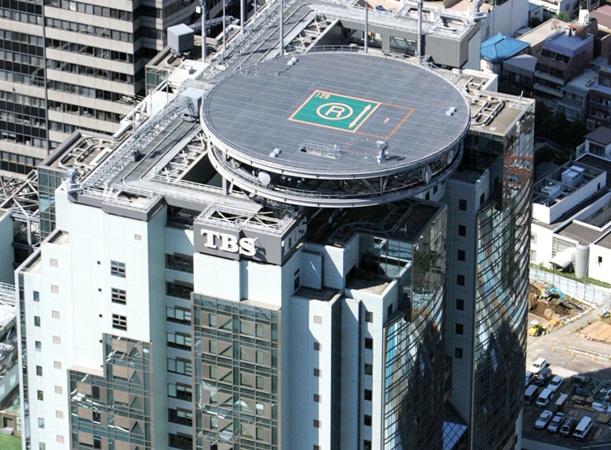 「民放の雄」と形容されてきた老舗の放送局・TBSテレビの本社ビル=東京・赤坂