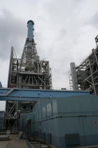 国内で唯一商用運転している石炭ガス化複合発電(IGCC)=福島県いわき市の常磐共同火力勿来発電所