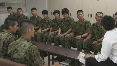 陸自幹部候補生たちへの取材=NHKスペシャル「60年目の自衛隊 現場からの報告」(2014年8月10日放送)から