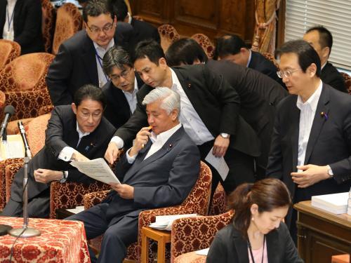 写真・図版 : 衆院安保法制特別委員会=6月29日、飯塚晋一撮影