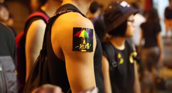 香港の雨傘革命を取材した動画の一部