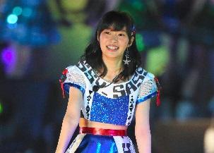 AKB48の選抜総選挙の開票イベントを前にコンサートに登場した指原莉乃さ