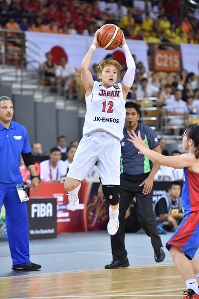 主将としてチームを引っ張った吉田=2015年9月4日、中国・武漢、日本バスケットボール教会提供