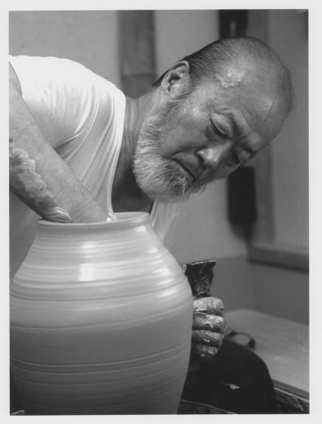 「窯模様」・寿官陶苑 14代沈寿官=1998年8月