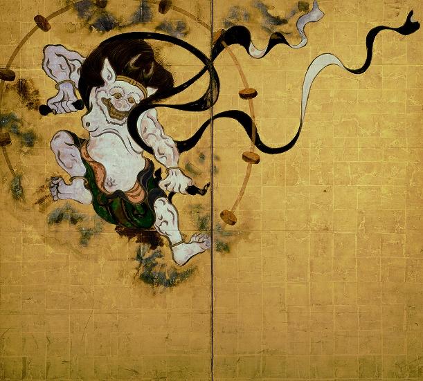 写真・図版 : 俵屋宗達筆の国宝「風神雷神図屛風」(左隻)=建仁寺所蔵