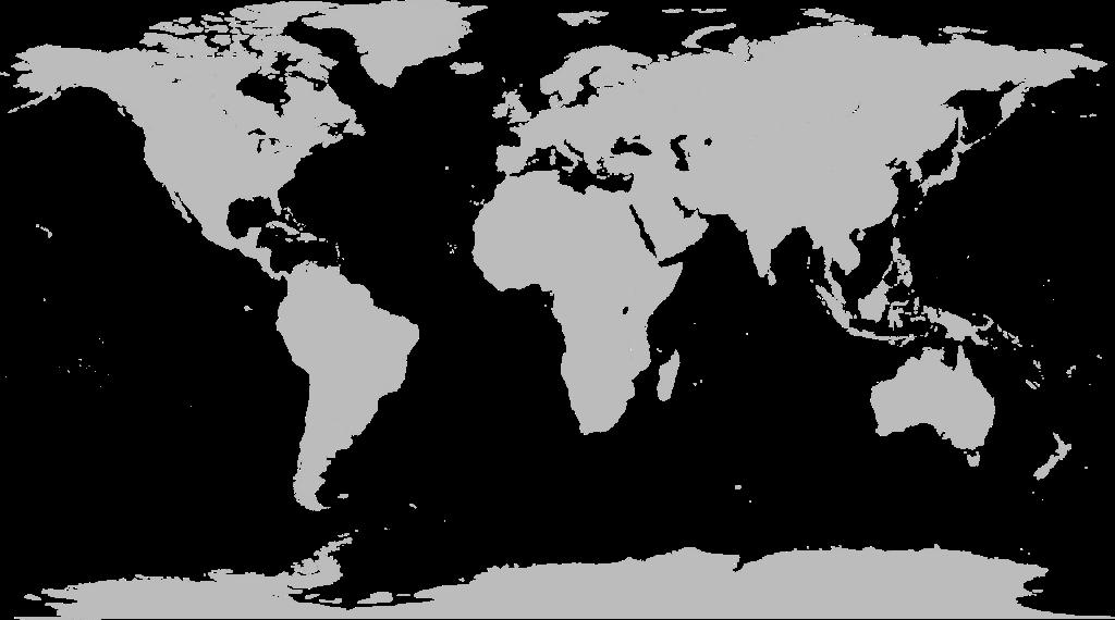 写真・図版 : 写真3:欧米で標準的に見かける世界地図(白地図)。どう見ても、欧州が世界の中心であり、気になるのは米国。日本は意識しないと見えない、まさに「極東」の小さい島国である。