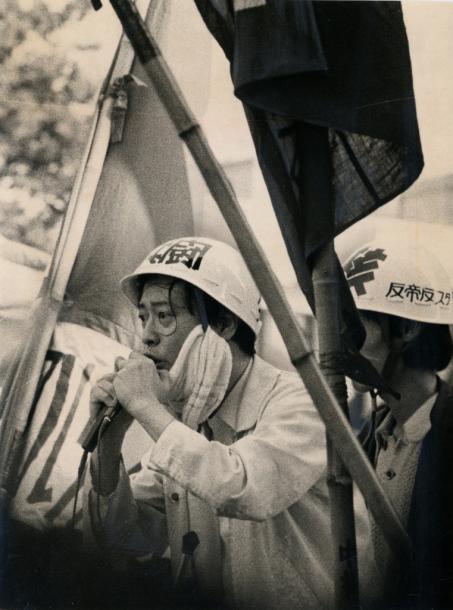 写真・図版 : 6・15集会での演説=1969年、東大