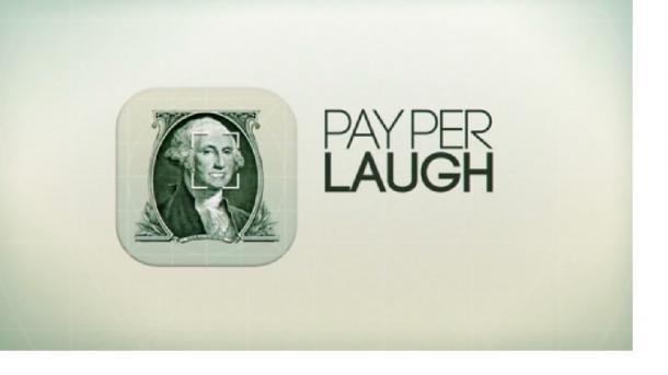 写真・図版 : 「Pay per Laugh」(ペイ・パー・ラーフ)のシンボルデザイン