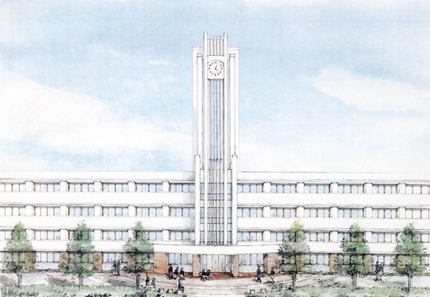2016年度からの共学化が発表された法政第二中・高(川崎市中原区)の新校舎のイメージ図=2012年