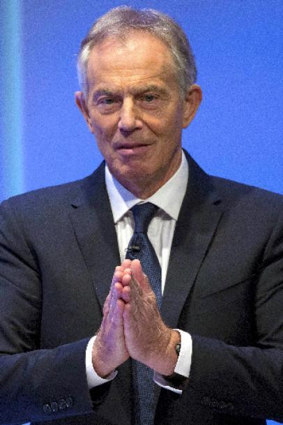 英国のブレア元首相。2015年10月25日、イラク戦争への参加について間違いがあったと謝罪した=写真は6日撮影