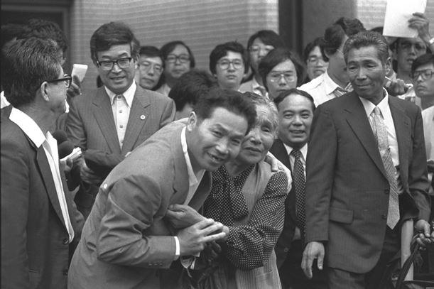 写真・図版 : 死刑確定者に対する再審「松山事件」の判決公判で斎藤幸夫・再審被告は無罪を言い渡された=1984年7月、仙台地裁