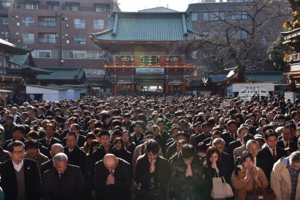 商売繁盛や業績アップなどを願い、多くの参拝客が訪れた神田明神.