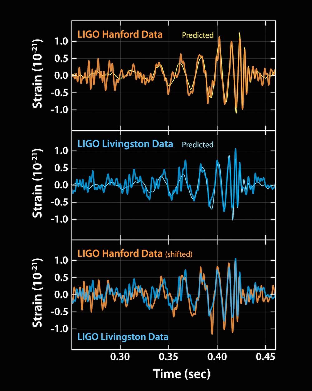 写真・図版 : ハンフォードのデータ(オレンジ)とリビングストンのデータ(青)を重ねると、驚くほどぴったり一致した