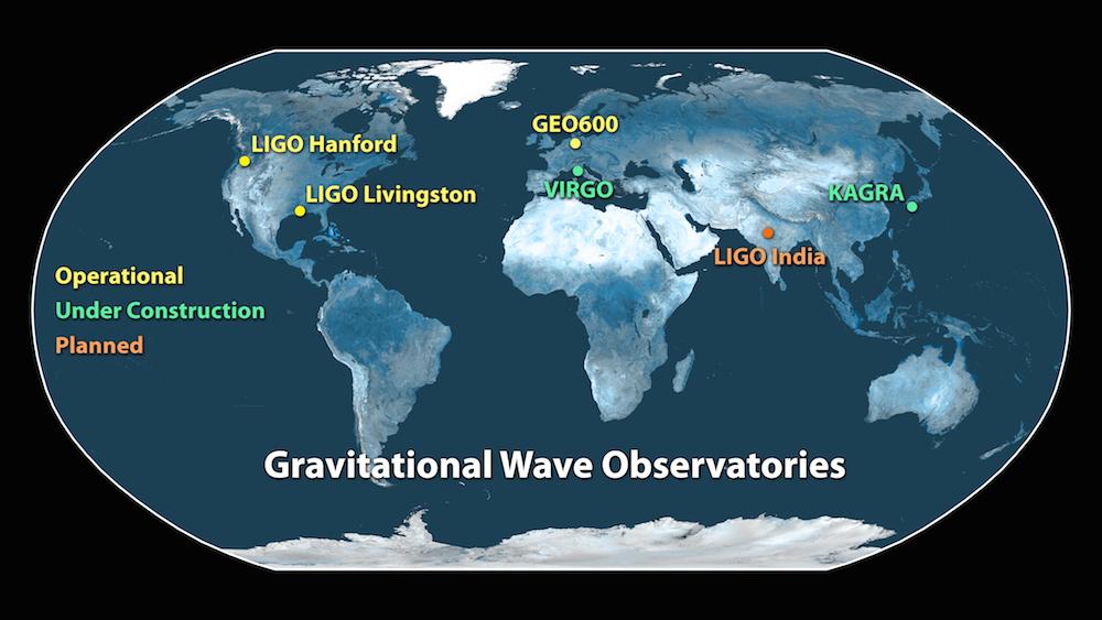 写真・図版 : 世界各地の重力波天文台