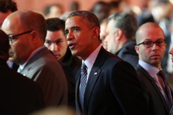 COP21の開会式に出席したアメリカのオバマ大統領=2015年11月、遠藤啓生撮影