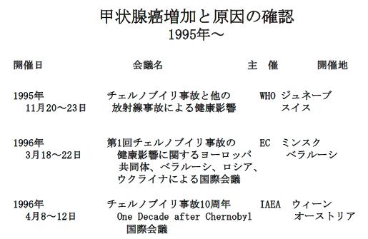 写真・図版 : 表2 95年以降の国際会議