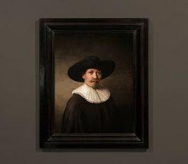 写真・図版 : AIで制作したレンブラント風の肖像画(The Next Rembrant)