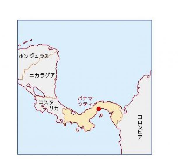 パナマの位置(外務省のウェブサイトから)