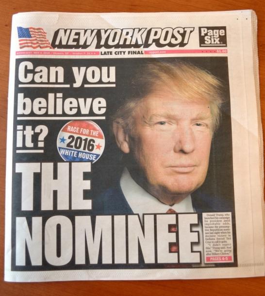 写真・図版 : 「あなたは信じられるか?」と一面に見出しをつけたニューヨークポスト